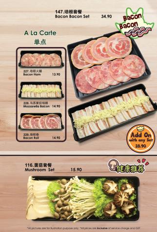 Bacon Bacon/ Mushroom Set